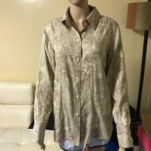 Kate Hill silk button down shirt